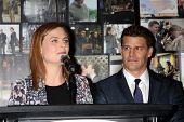 LOS ANGELES - NOV 14:  Emily Deschanel, David Boreanez at the