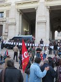 Teacher Demonstration In Rome