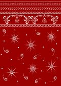 Colourful winter background with decorative elements