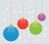 Vector New Year Holiday Illustration Of Christmas Balls