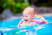 Adorable Baby In A Swimming Pool