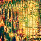 Aged grunge texture. With different color patterns: yellow; brown; green; orange