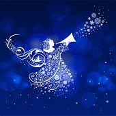 stock photo of christmas angel  - Christmas Angel - JPG