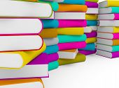 Multiple Stack Of Colorful Book