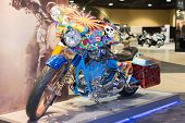 Psycodelic Harley Davidson Motorcycle