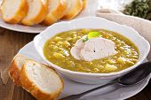 Split pea soup with chicken