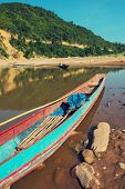 traditional boats in Laos