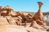 Hoodoo formations in Utah, USA.