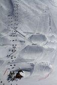 Snow park in mountain ski resort, Sochi, Russia