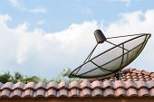 Telecommunication Satellite On Roof