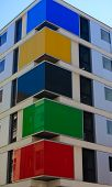 Multicolour Apartment Building