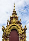 Arch Of Thai Temple With Sky