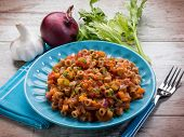 pasta with vegetables ragout