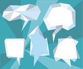 Triangular 3d bubble speech