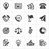Trendy business and economics icons