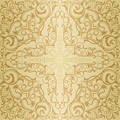 Gold orient pattern
