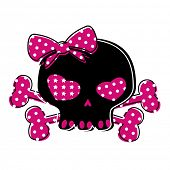 cute skull on crossbones