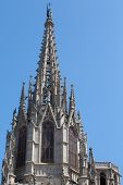 Spire on Barcelona Cathedral
