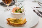 Shrimp Appetizer With Garlic Bread
