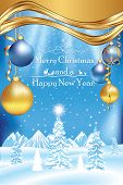 Christmas / New Year greeting card for print