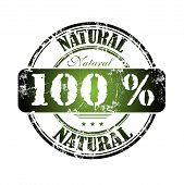 One hundred percent natural stamp