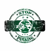Stop parking rubber stamp