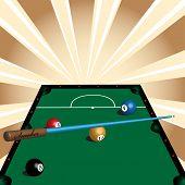 Playing snooker