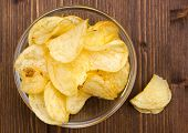 Bowl of chips of wood from