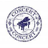 Concert grunge rubber stamp