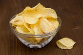 Bowl of chips of wood