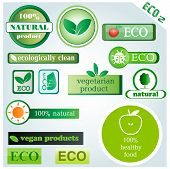 Eco vector icons and signs