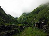 Agricultural Area Of Himalayas During Monsoon