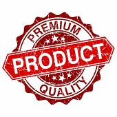 Premium Quality Product Red Vintage Stamp Isolated On White Background
