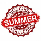 Summer Collection Red Vintage Stamp Isolated On White Background