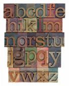 Alphabet Abstract - Vintage Wooden Letterpress Type