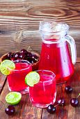 Drink From Sweet Cherry And A Lime