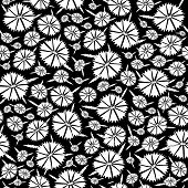 Seamless texture of the flowers