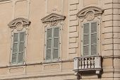 Windows In Mantova, Lombardy, Italy