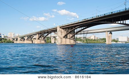 Picture or Photo of Bridge across the river in Novosibirsk Ob