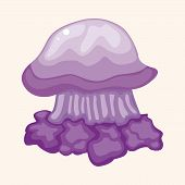 picture of jellyfish  - Jellyfish Theme Elements Vector - JPG