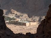 A view of St Catherine's Monastery, Sinai, Egypt