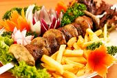 picture of kebab  - kebab on skewers  - JPG