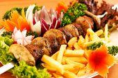 picture of kebab  - kebab on skewers  - JPG