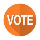 picture of voting  - vote orange flat icon   - JPG