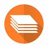 foto of gage  - layers orange flat icon gages sign  - JPG