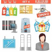 image of escalator  - Shopping Icons including labels - JPG