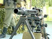 foto of mg  - German manual machine gun MG - JPG