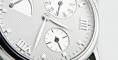 stock photo of wrist  - luxury watch swiss made. Luxury wrist watch closeup.