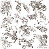 picture of freehand drawing  - DRAGONS - JPG