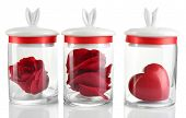 stock photo of glass heart  - Rose flower - JPG